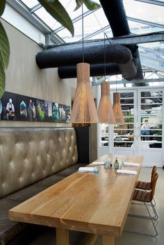 Secto 4200 Restaurant De Kas. Amsterdam, The Netherlands. Lights advised by Studio Rublek. Photo by Ellen Swaan.