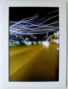 $54.99  Signed Matted Photograph OUT THE Window Waves Trails BY Eduard Urwalek | eBay #dormdecor #art #lights