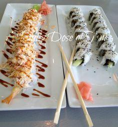 Sushi Rolls at The Slippery Mermaid.  YUM!  #Food #Sushi