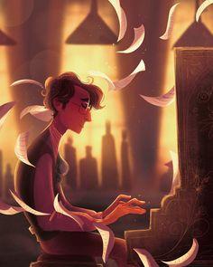 The Piano Man by Noor Sofi. Instagram: noor_sofi_art