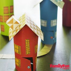 Tube Town: Transform cardboard tubes into cute cottages in just a few simple steps.