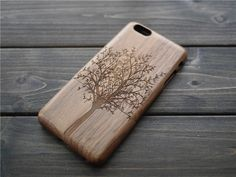 Personalized iPhone 6 plus Wood Case  Custom Wood by BlessingCard