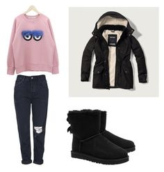 """Untitled #203"" by stefaniacristiana on Polyvore featuring DANI LOVE, Topshop, UGG Australia and Abercrombie & Fitch"