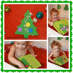Momma's Fun World: Christmas Tree learning/fun themed bath
