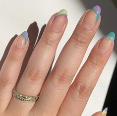 Simple Acrylic Nails, Best Acrylic Nails, Simple Nails, Aycrlic Nails, Oval Nails, Hair And Nails, Stylish Nails, Trendy Nails, Mode Inspiration