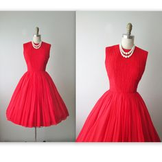 50's+Valentine's+Dress+//++Vintage+1950's+Red+by+TheVintageStudio,+$138.00