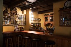 Enjoy and drink at The Poached Trout Bar at Cleopatra Mountain Farmhouse