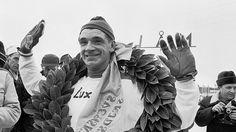Eero Mäntyranta (20 November 1937 – 29 December 2013) was a Finnish skier and multiple Olympic champion. -  http://en.wikipedia.org/wiki/Eero_M%C3%A4ntyranta  ||  Kuvat upealta uralta: Eero Mäntyranta 1937–2013 - Maastohiihto - Hiihtolajit - Sport - MTV.fi  |    http://www.mtv.fi/sport/hiihtolajit/maastohiihto/artikkeli/kuvat-upealta-uralta-eero-mantyranta-19372013/3734596