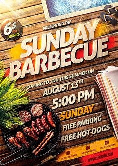 Barbecue BBQ Party Flyer Template…                              …