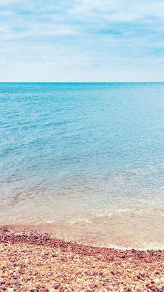 Sea Nature Beach Blue Sky Rock Happy #iPhone #6 #plus #wallpaper