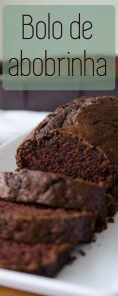 Bolo de abobrinha e chocolate super molhadinho! Receita fácil de bolo de liquidificador