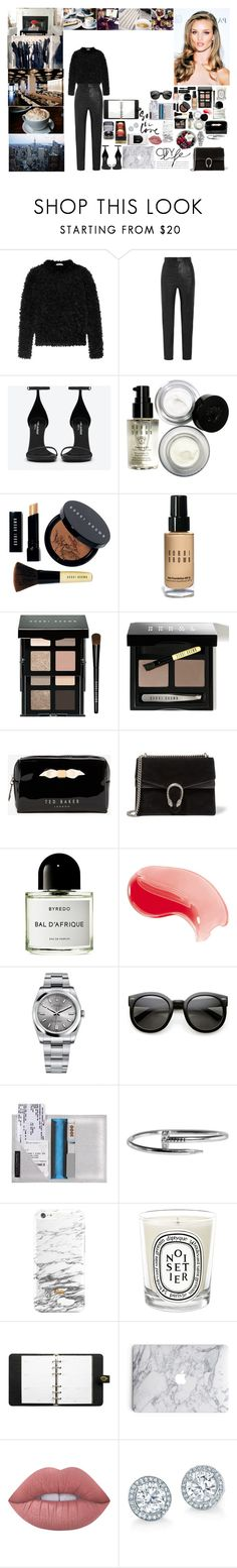 """""""Unbenannt #699"""" by isa1 ❤ liked on Polyvore featuring MaxMara, Givenchy, Yves Saint Laurent, Made of Me, Bobbi Brown Cosmetics, Ted Baker, Gucci, Byredo, Rolex and Diptyque"""