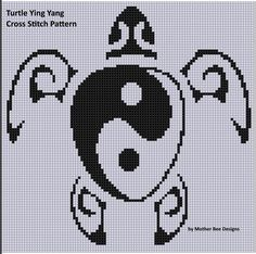 Turtle Ying Yang Cross Stitch Pattern | Craftsy