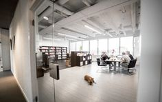 Lumicovers light lines are a part of the basic interior of the offices at the Nachtwachtlaan, Amsterdam. For rent by Launchdesk.nl
