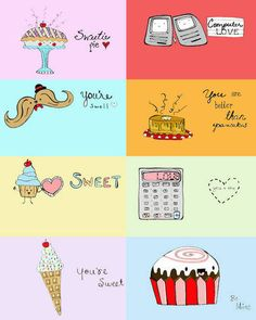 Kawaii Style Valentines Sheet - OCCASIONS AND HOLIDAYS