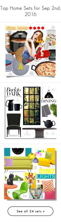 """""""Top Home Sets for Sep 2nd, 2016"""" by polyvore ❤ liked on Polyvore featuring interior, interiors, interior design, home, home decor, interior decorating, Bitossi, Improvements, Tabletops Unlimited and Sur La Table"""