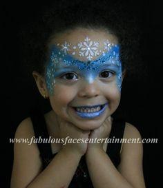 Frozen Queen Elsa face painting by Fabulous Faces Entertainment - Face Painter in Interlachen, Florida