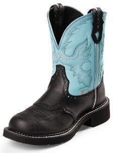 Justin Boots Ladies Gypsy Collection Black Deer Cow Cowgirl Boots L9905