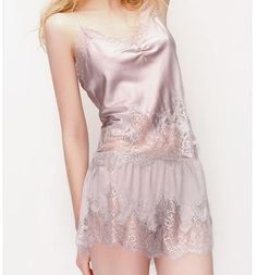 MelberrySilk French lace sexy pajamas sleep wear set $85