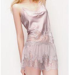 MelberrySilk French lace sexy pajamas sleep wear set $85
