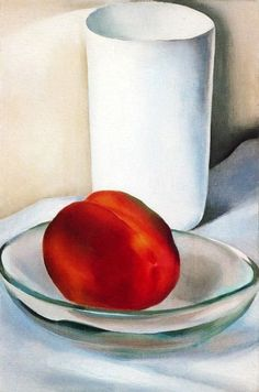 Possibly the only Georgia I would hang in my house. Georgia O'Keeffe - Peach and Glass, 1927 @ The Riverside Art Museum