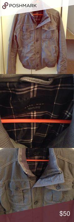 Beautiful ZARA MAN coat Zara man zipper and button awesome coat Zara Jackets & Coats Lightweight & Shirt Jackets