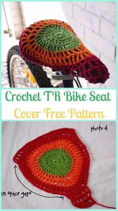 Crochet TR Bike Seat Cover Free Pattern - Crochet Bicycle Fashion Patterns