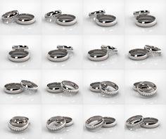 Verighete din aur alb de 14k SS 054 Aur, Rings For Men, Wedding Rings, Engagement Rings, Jewelry, Enagement Rings, Men Rings, Jewlery, Jewerly