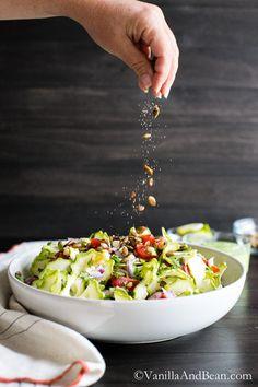 Zucchini Corn Tomato Salad with Avocado Lime Dressing | Vanilla And Bean