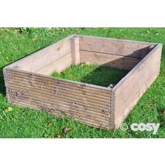 Set of 3 square grow beds are ideal for any raised bed area. Split the children up and let them take control over a bed.