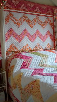 Two zig zag quilts
