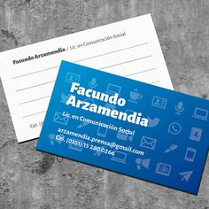 2017 / COMUNICADOR SOCIAL / Tarjetas Personales 85 x 50 mm / Impresión Offset / Acabado OPP Mate / #tarjetasdepresentacion #tarjetaspersonales #businesscards #diseñografico #graphicdesign #stationery #printing #freelancedesigner #freelance