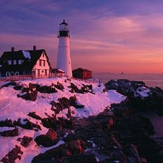Snow and lighthouses