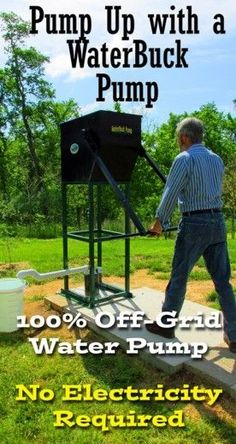 off-grid, backyard water pump | #pureliving