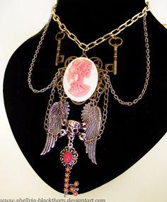 https://www.etsy.com/listing/156593082/gothic-punk-angel-necklace-bridal?