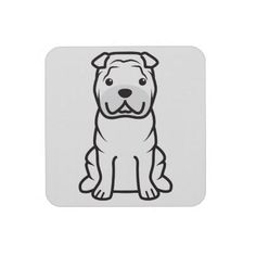 Chinese Shar-Pei Dog Cartoon Cover For iPhone 5 Chinese Shar Pei Dog, Cartoon Dog, Iphone Case Covers, Phone Cases, Fur Babies, Puppies, Pets, Iphone 4, Coaster