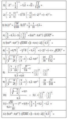Cálculos combinados con números racionales - Matematica - Campus Virtual ORT Calculus, Algebra, College Math, Nursing School Tips, Math Formulas, Arithmetic, School Hacks, Teaching Math, Tricks