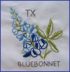 Free hand embroidery patterns: state flowers
