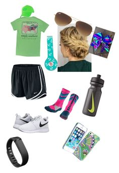 """My little sis made this!"" by kaley-ii ❤ liked on Polyvore featuring NIKE, Ray-Ban, Beats by Dr. Dre, Vera Bradley and Fitbit"