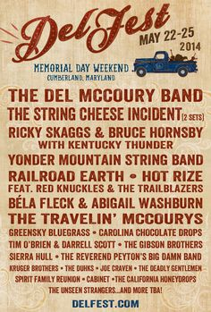 DelFest 2014 Initial Lineup for Memorial Day Weekend - Music Festival Junkies