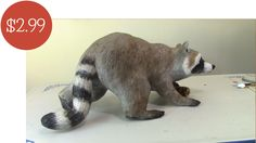 Step 1: Make a paper mache raccoon holding a corn cob. You can use Jonni's pattern to get you started. 5 Videos.