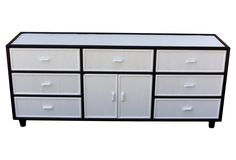 Black & White Faux-Bamboo Dresser // one kings lane // $745
