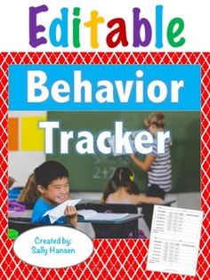 Individual Student Behavior Tracker (Editable) for Classroom Management #ClassroomManagement #Editable #Tpt