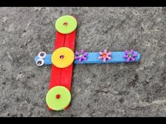 How to make dragonfly with ice cream / popsicle sticks