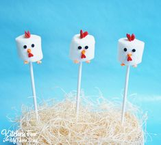 Easy Chicken Marshmallow Pops