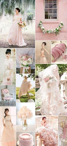 blush wedding dresses