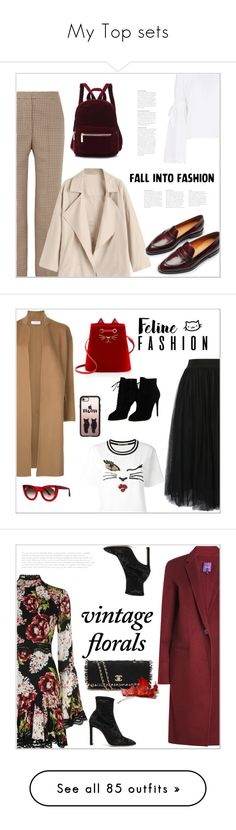 """""""My Top sets"""" by bliznec ❤ liked on Polyvore featuring STELLA McCARTNEY, Free People, Everlane, Ermanno Scervino, WithChic, Astraet, Charlotte Olympia, Thierry Lasry, Casetify and Tom Ford"""