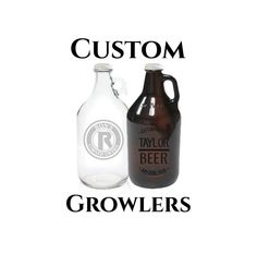 Full-sized 64oz beer growler is perfect for the beer lover in your life. Comes engraved with whatever youd like! Choose from either clear glass or