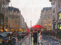 PETE RUMNEY FINE ART BUY ORIGINAL OIL ACRYLIC PAINTING BUSY DAY IN LONDON SIGNED in Art, Artists (Self-Representing), Paintings, Oil | eBay