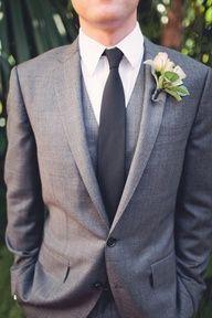 Gray Suits with Dark Gray Tie